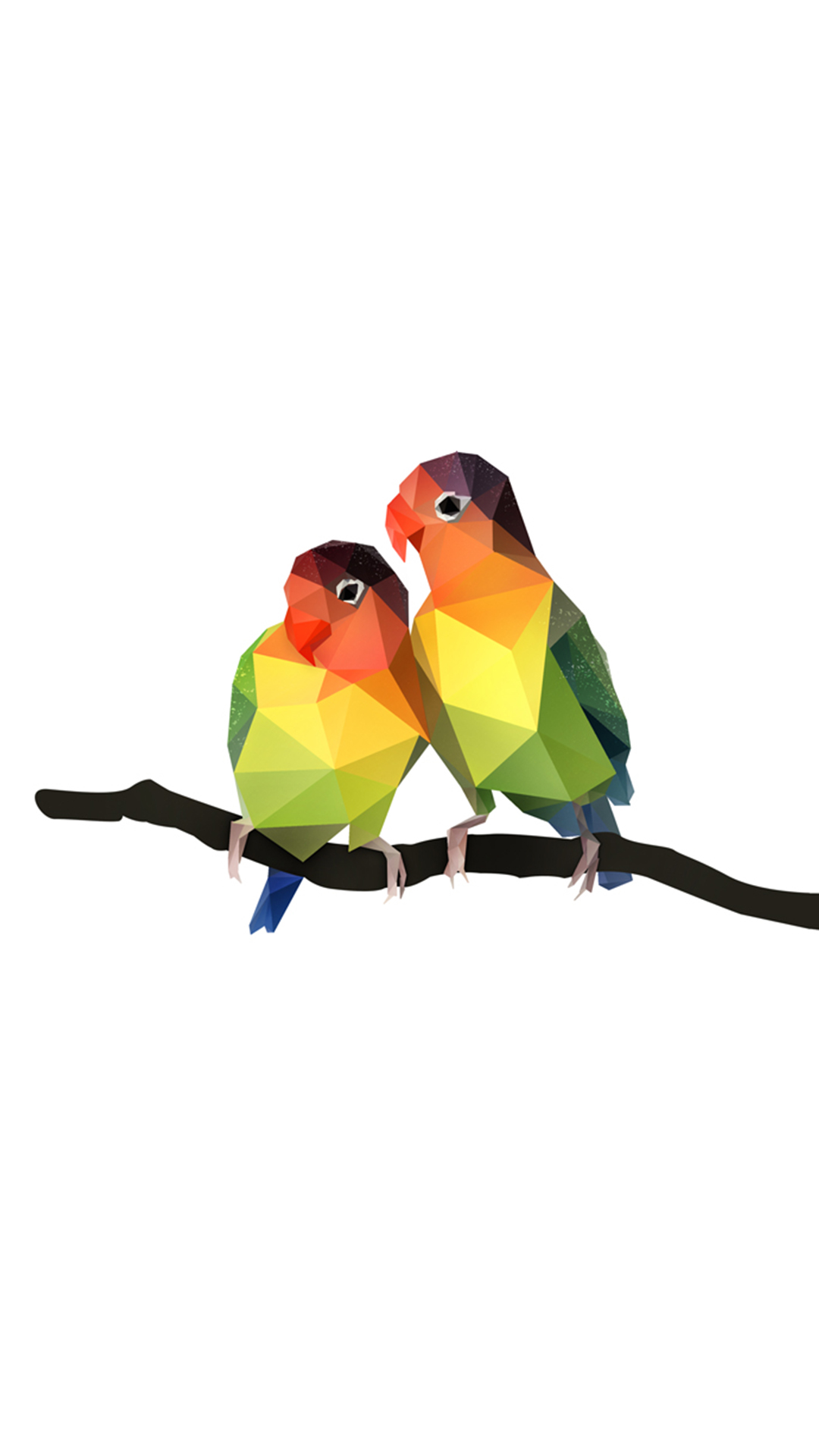 创意卡通动物 鹦鹉 几何构成