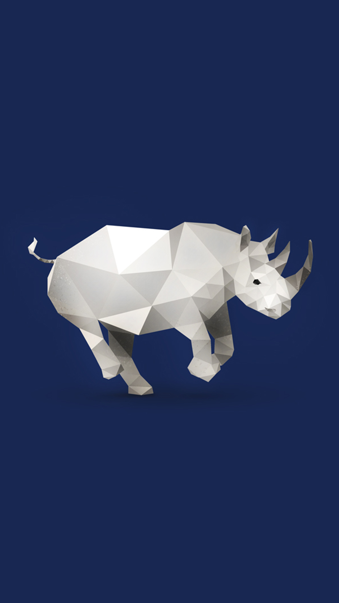 创意动物插画 犀牛 几何构成 苹果手机高清壁纸 1080x