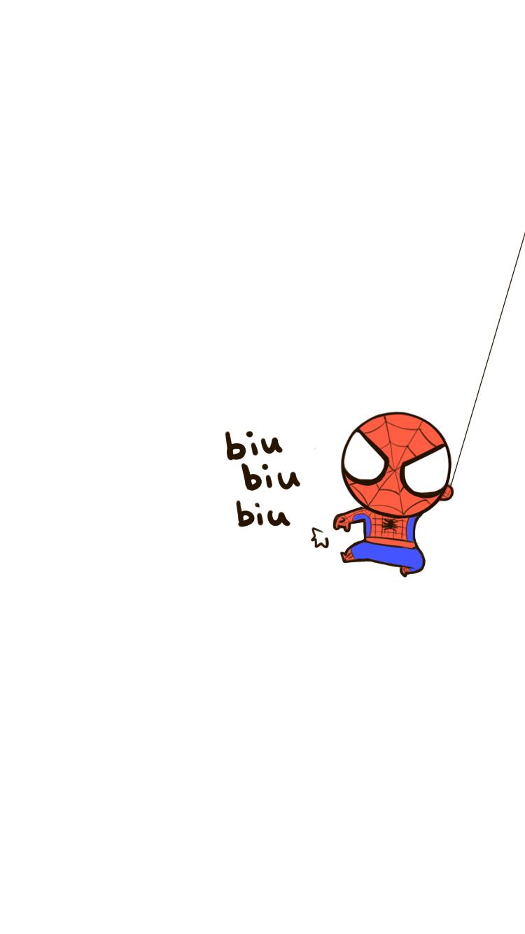 超萌卡通蜘蛛俠 蘋果手機高清壁紙 750x1334_愛思助手
