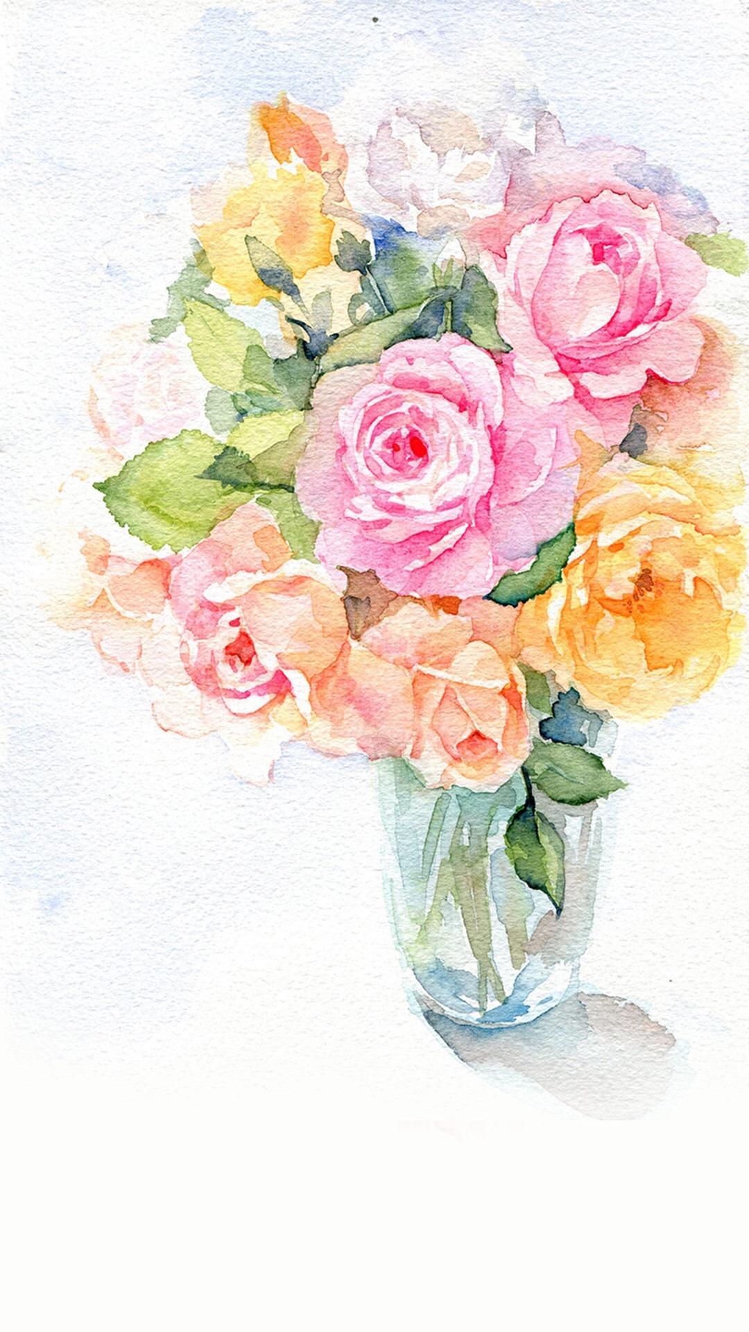 手绘 花卉