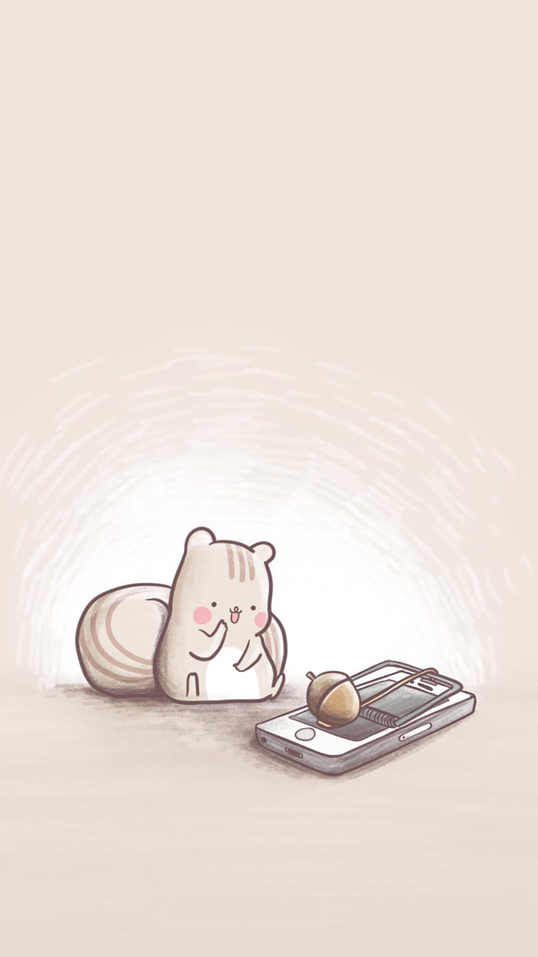 可爱 卡通 松鼠 坚果