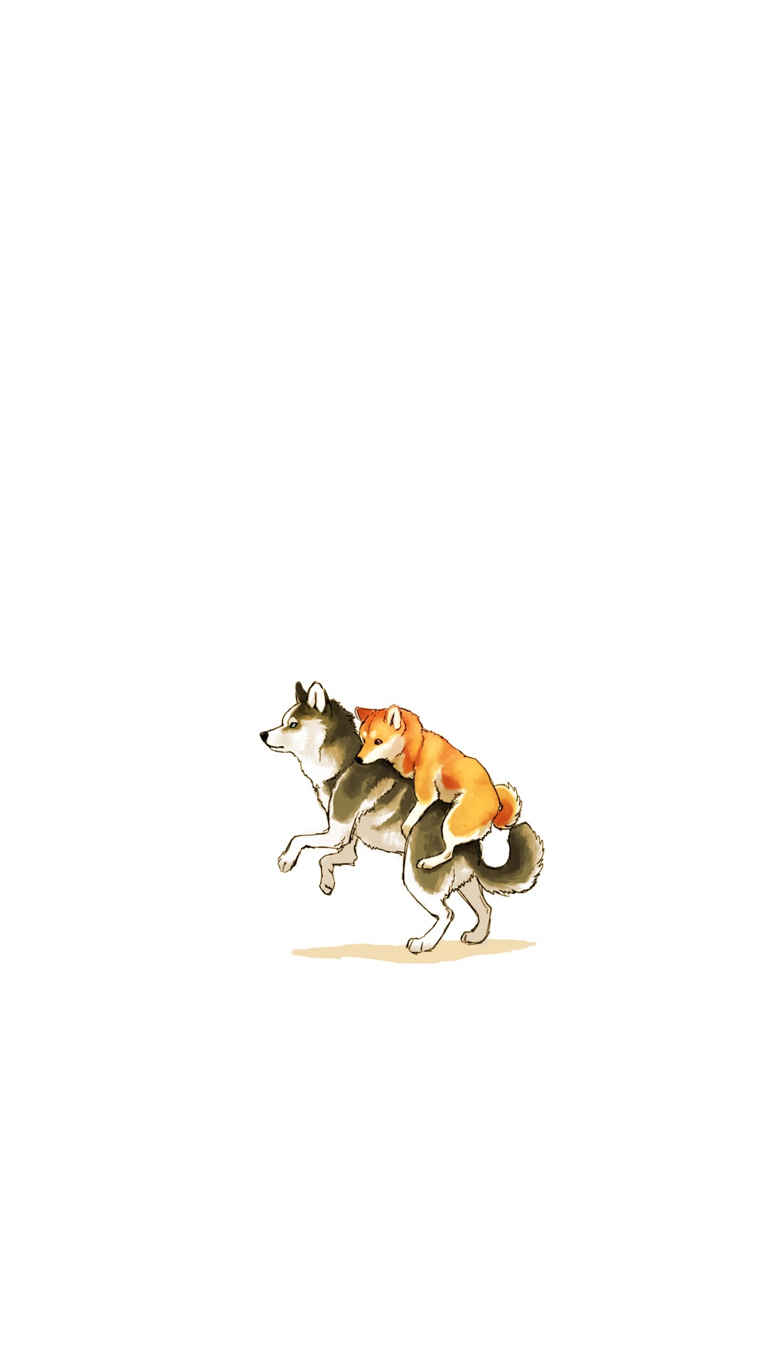 萌犬 手绘可爱狗狗 柴犬