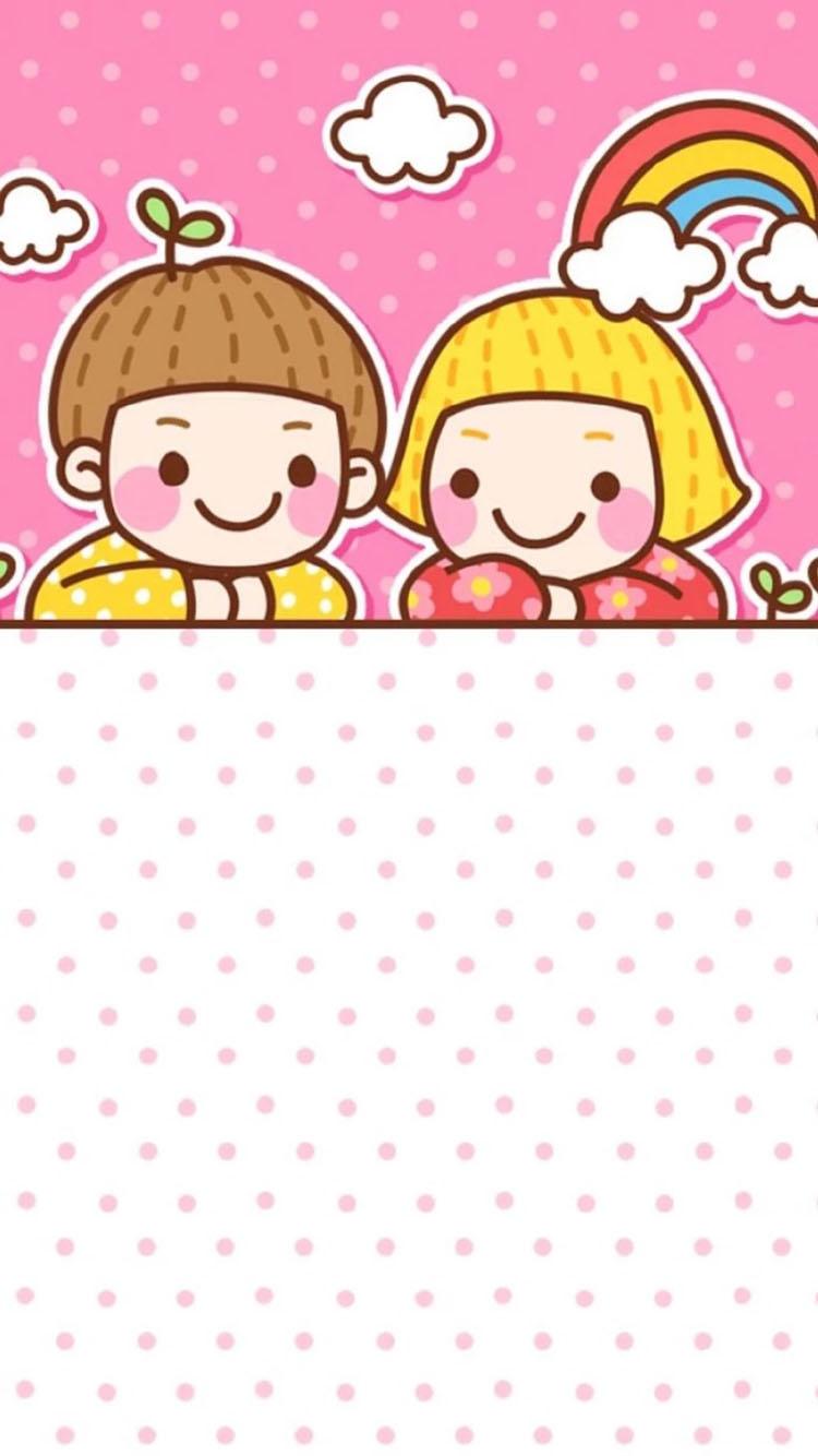 粉色背景 一群跳舞的小鸡 苹果手机高清壁纸 750x1334