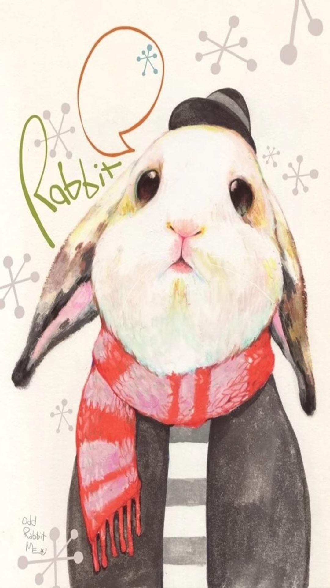 兔子 动物 手绘