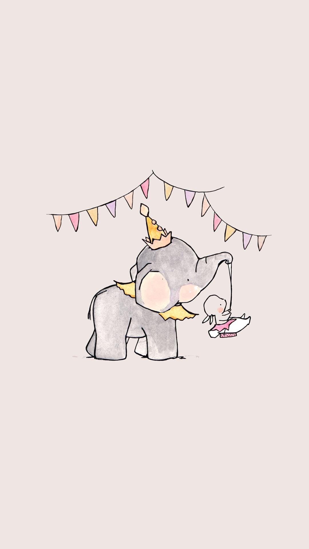 大象 苹果手机高清壁纸 1080x1920_爱思助手