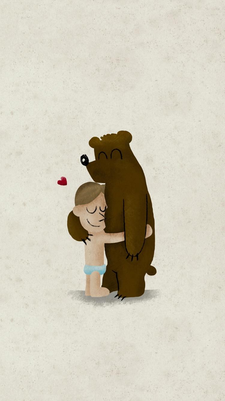 互相拥抱的卡通图片