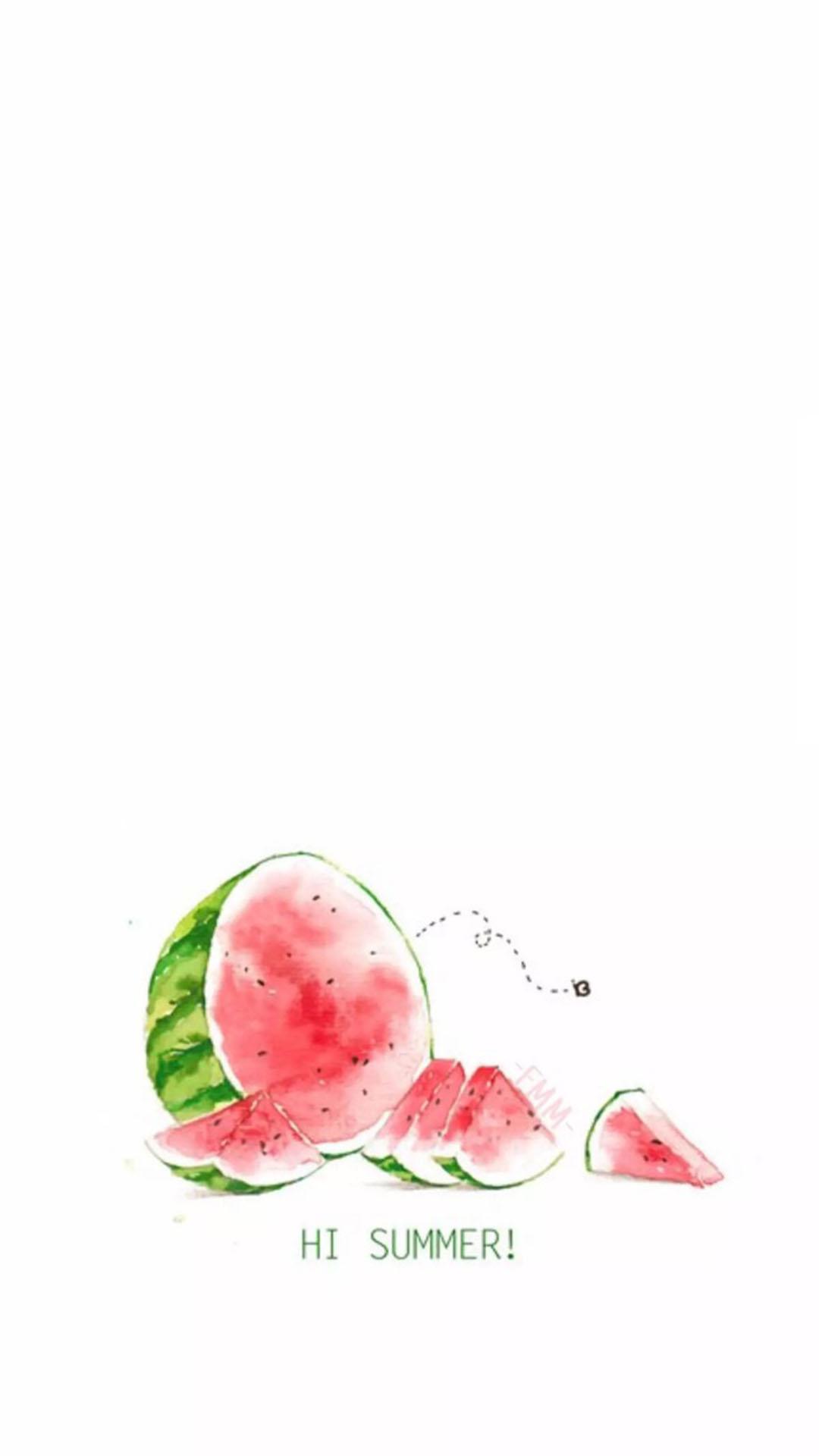手绘 西瓜