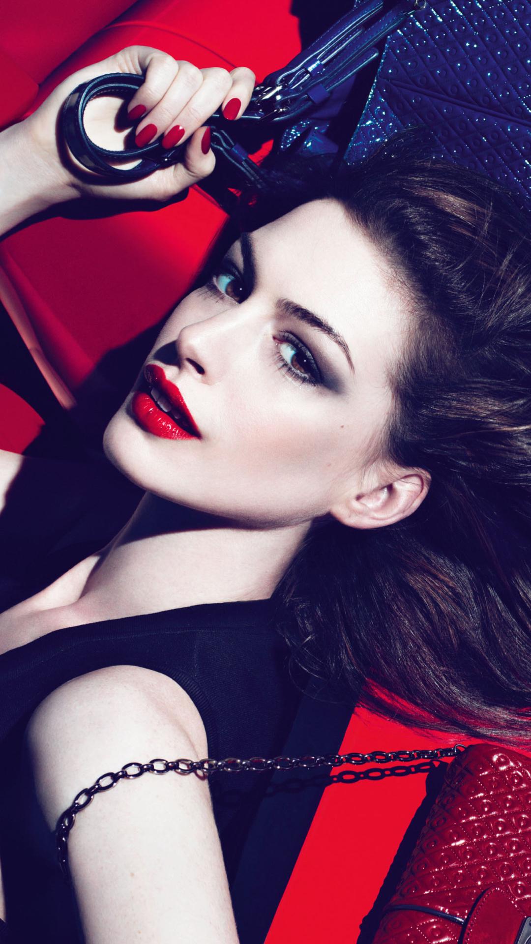 欧美 美女 红唇 长发