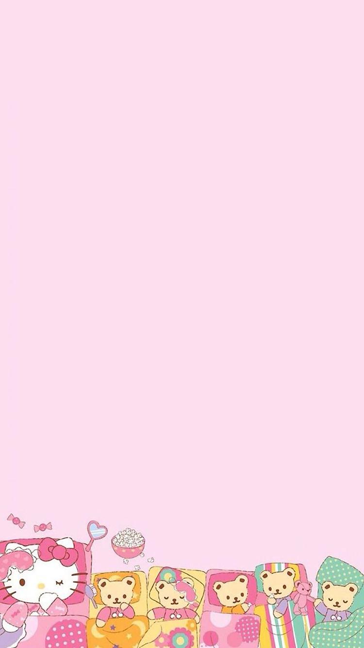 卡通 甜甜圈 蘋果手機高清壁紙 750x1334_愛思助手