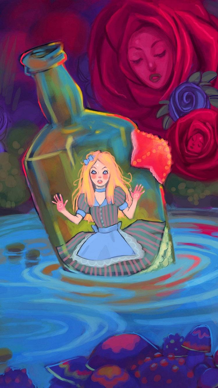 瓶子 手绘 创意