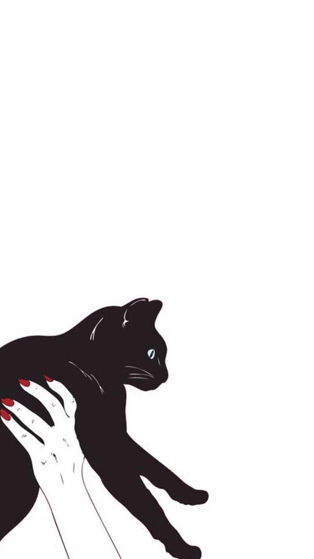 手绘 黑猫