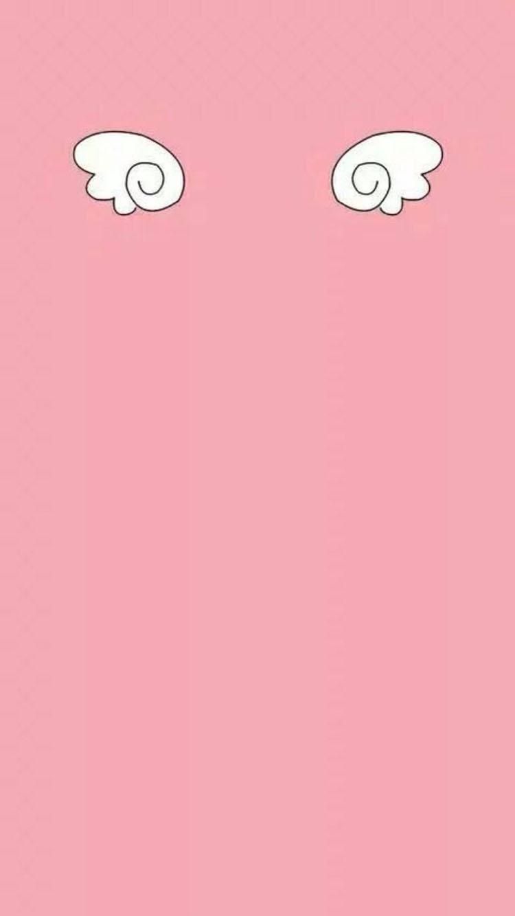 卡通兔子 粉色 2017 苹果手机高清壁纸 750x1334_爱思