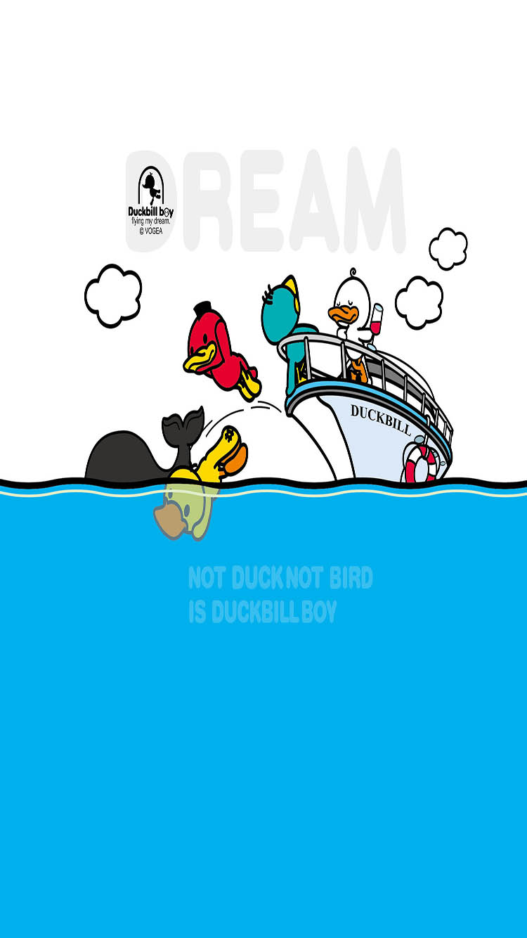 卡通 鸭子 蓝