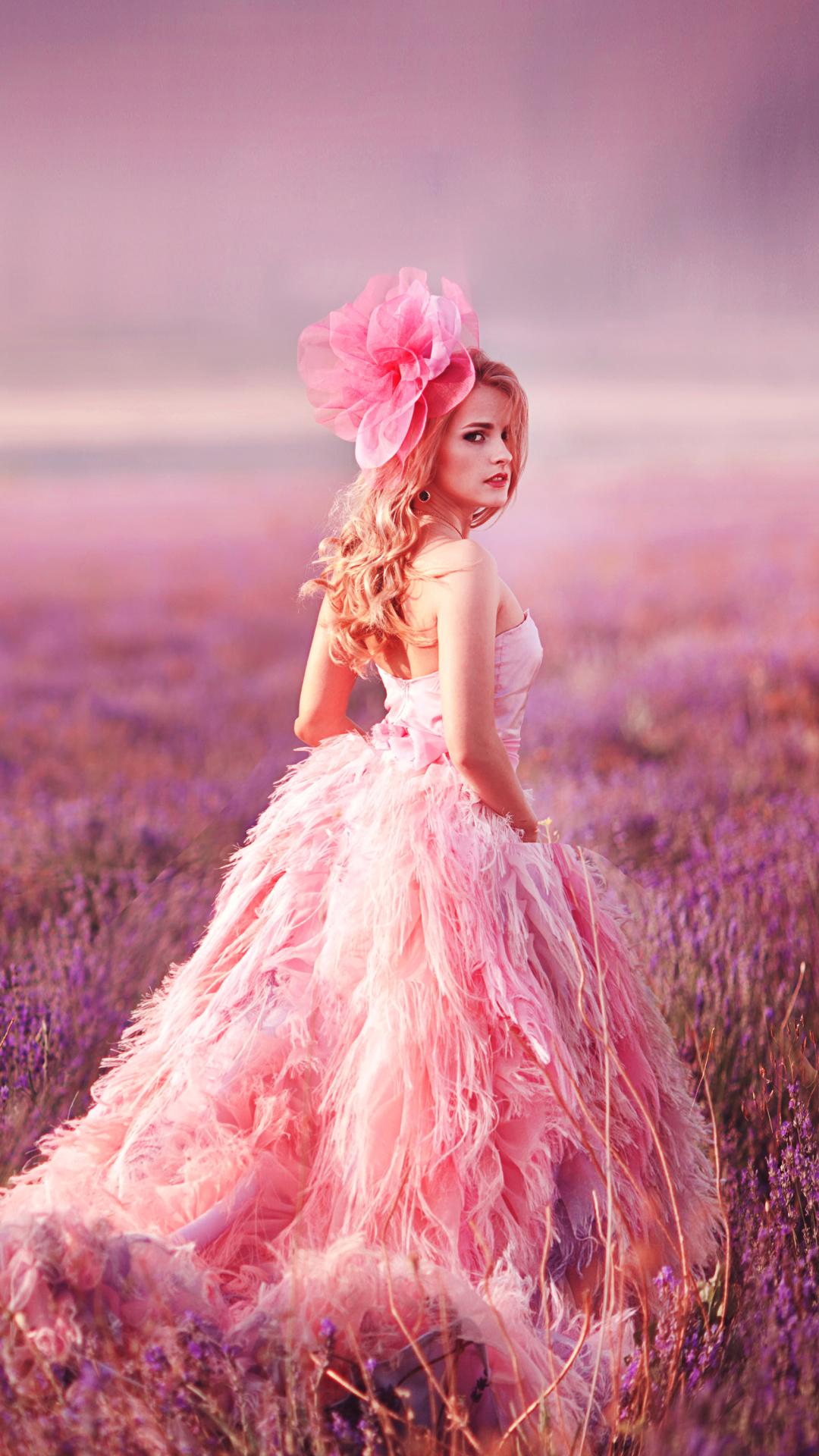 美女 唯美 婚纱 粉色