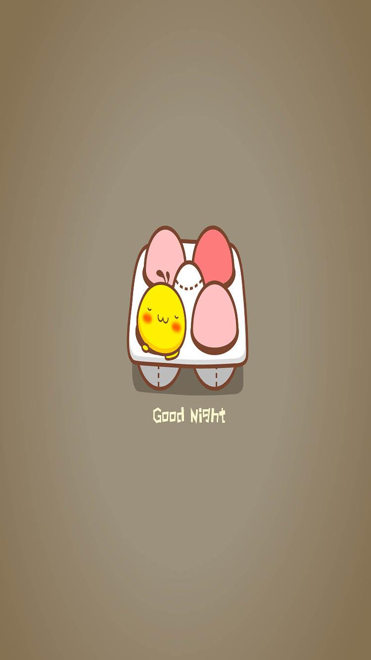 卡通 鸡蛋 咖啡色 苹果手机高清壁纸 750x1334_爱思
