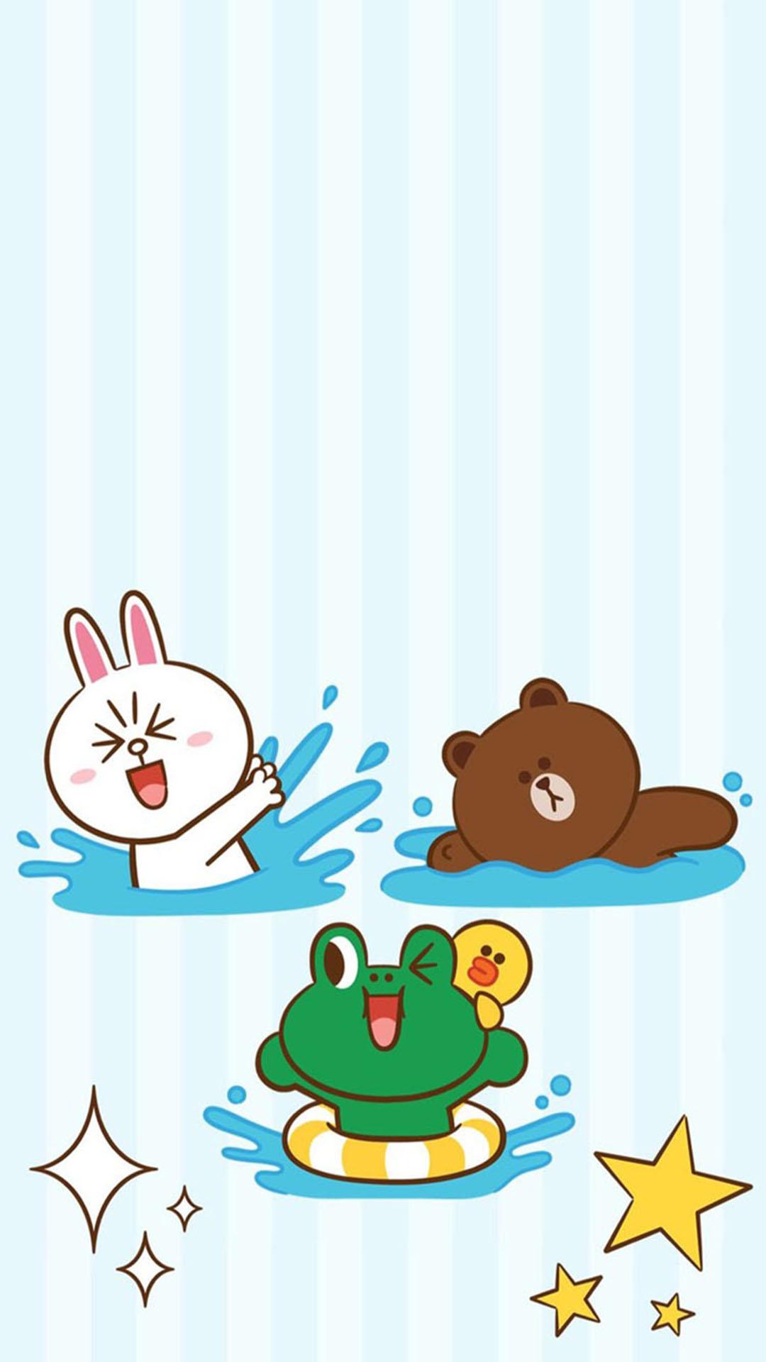 可妮兔 布朗熊 小青蛙 蘋果手機高清壁紙 1080x1920