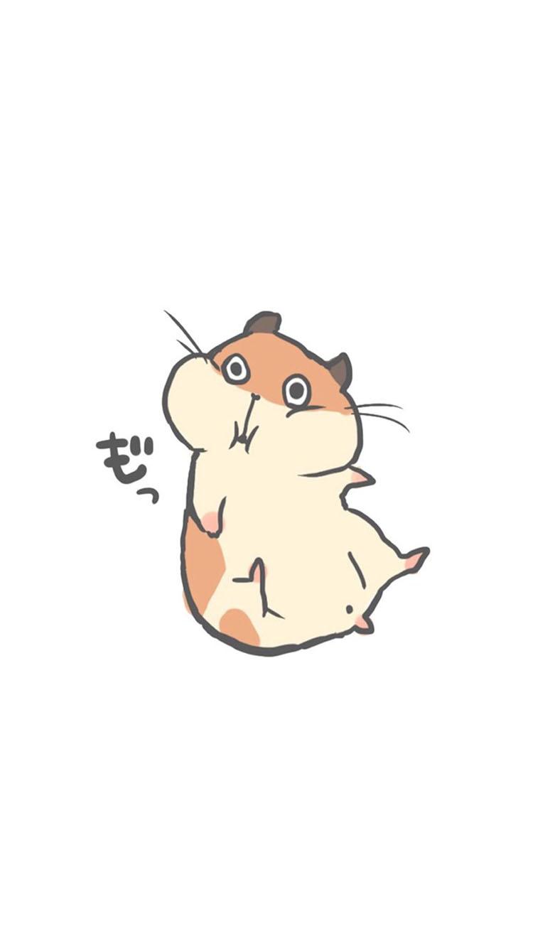 卡通 可爱的小仓鼠