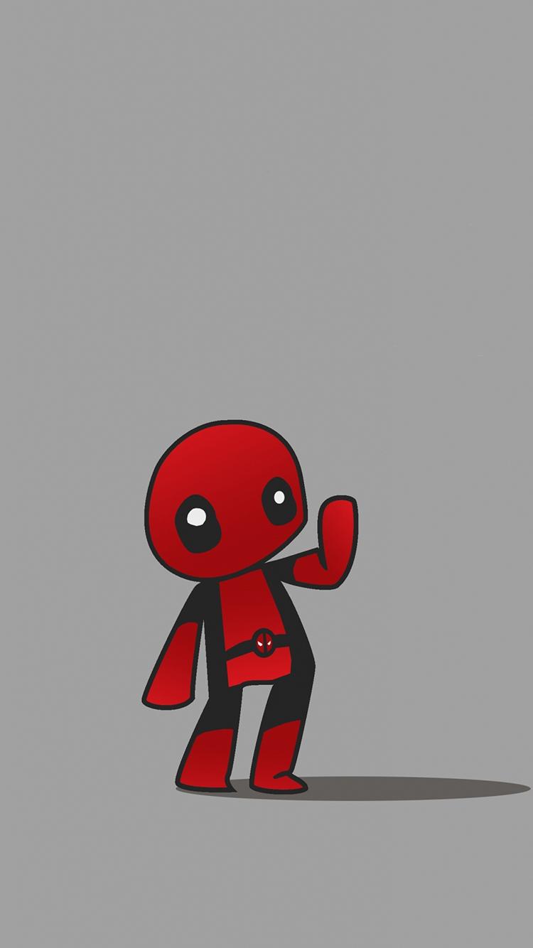 蜘蛛侠 q版 卡通 苹果手机高清壁纸 750x1334_爱思助手