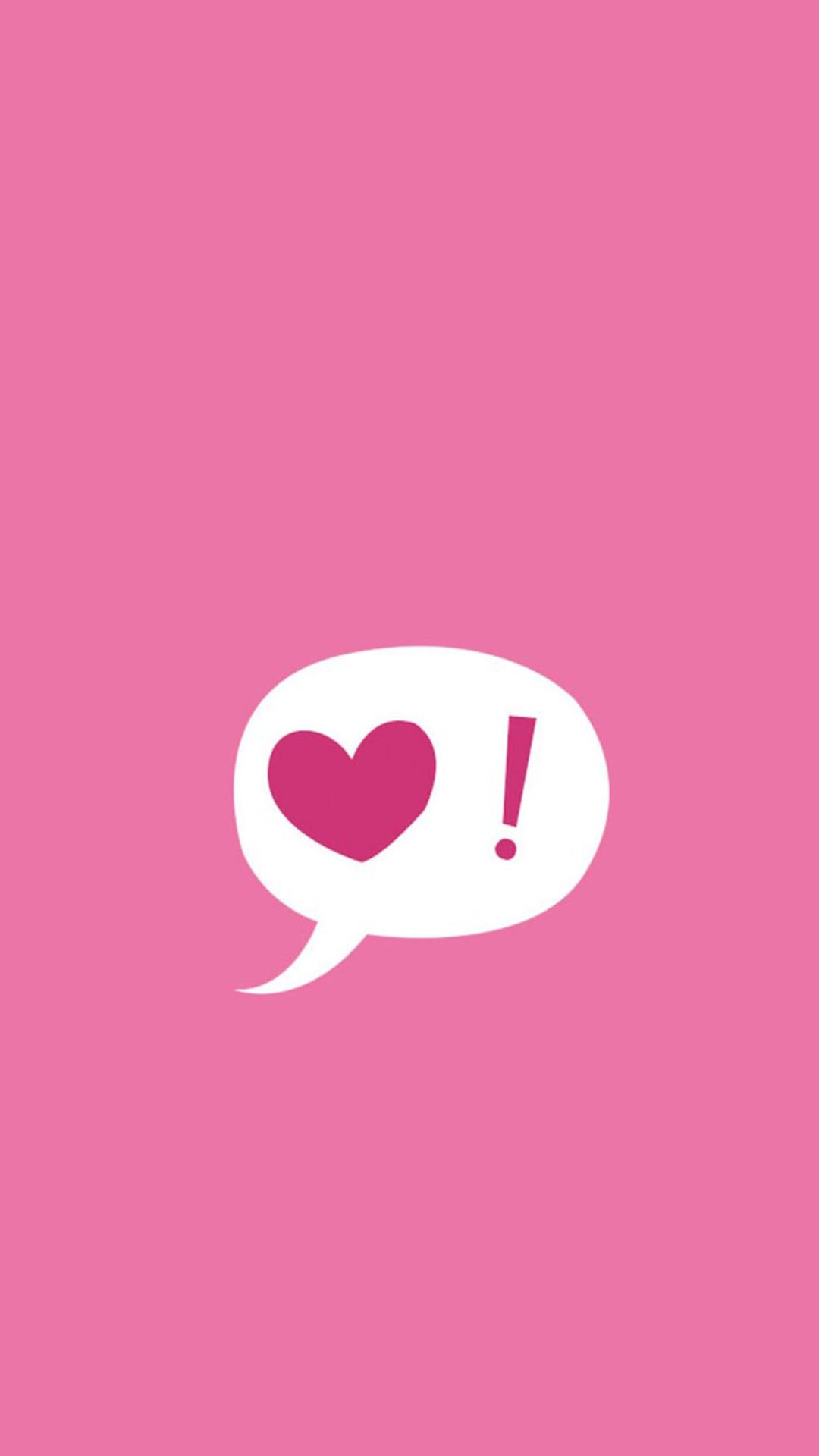 粉色背景 心 苹果手机高清壁纸 1080x1920_爱思助手