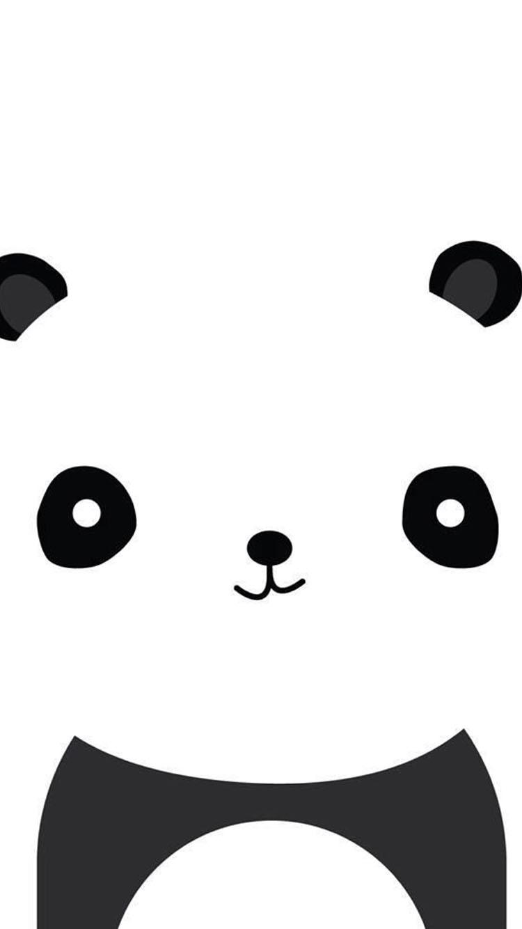 超萌可爱熊猫头像素