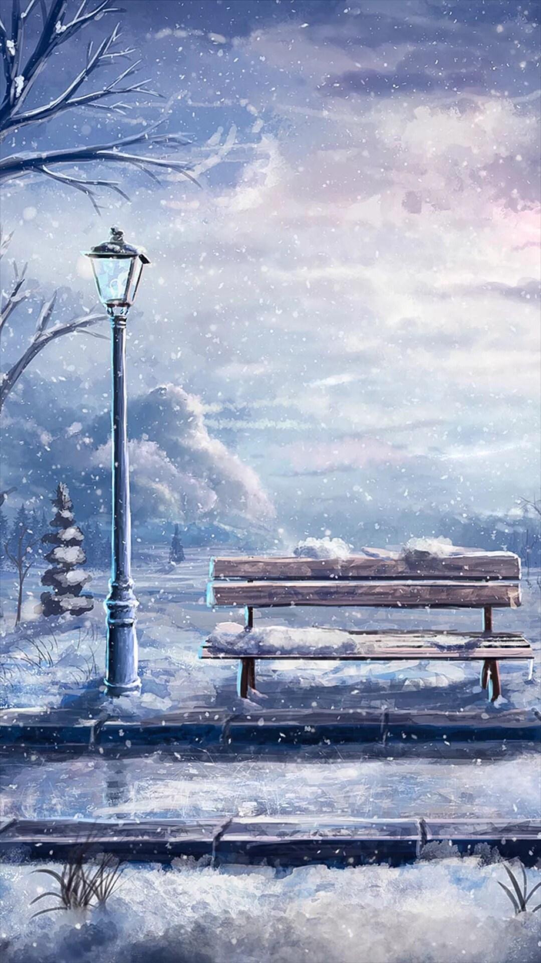 雪景 下雪 风景 苹果手机高清壁纸_爱思助手