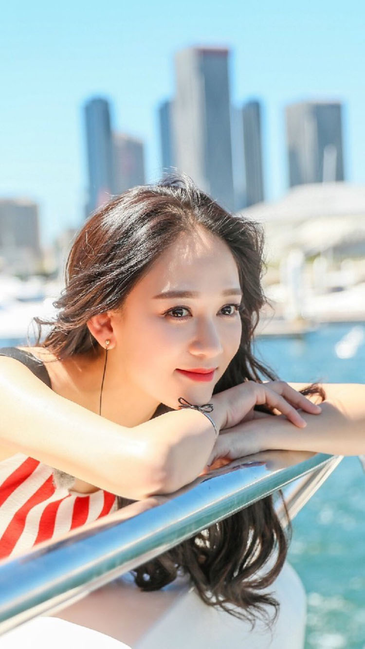 女星 陈乔恩 苹果手机高清壁纸 750x1334_爱思助手