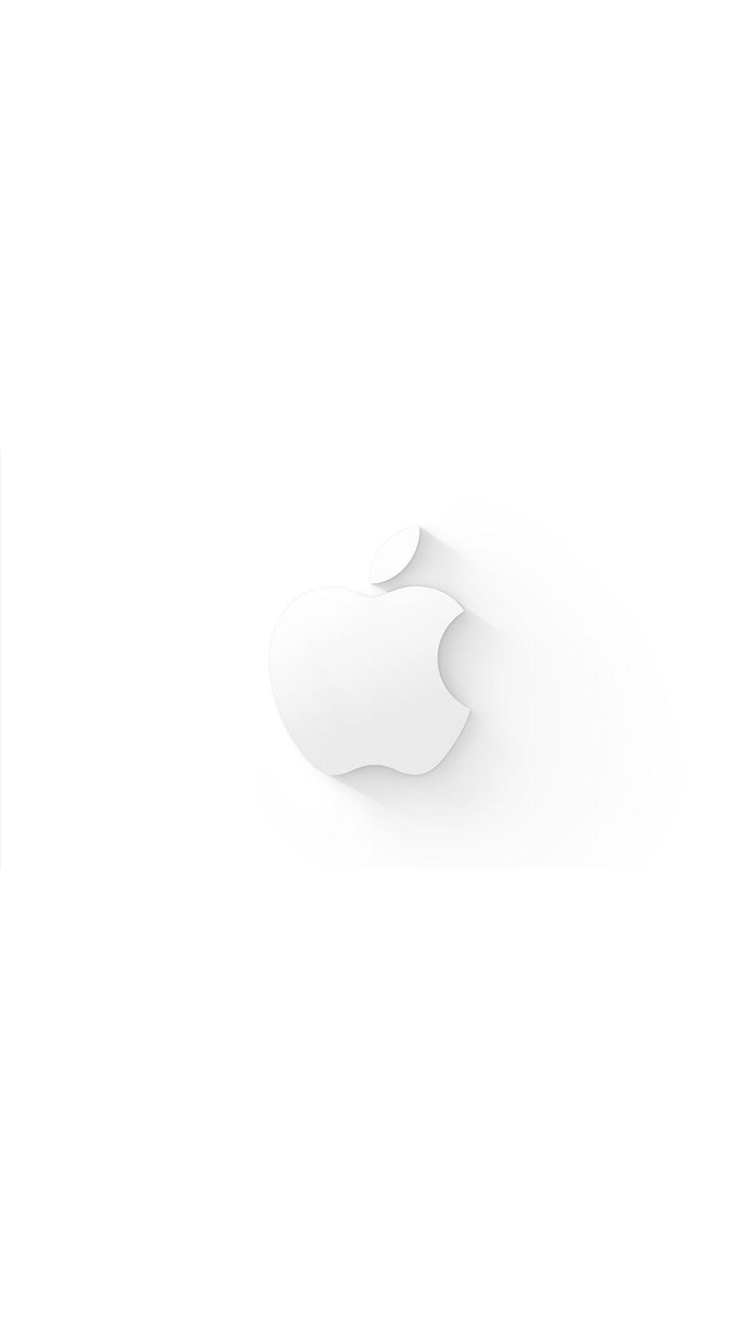 苹果logo 简约 白色 苹果手机高清壁纸 1080x1920