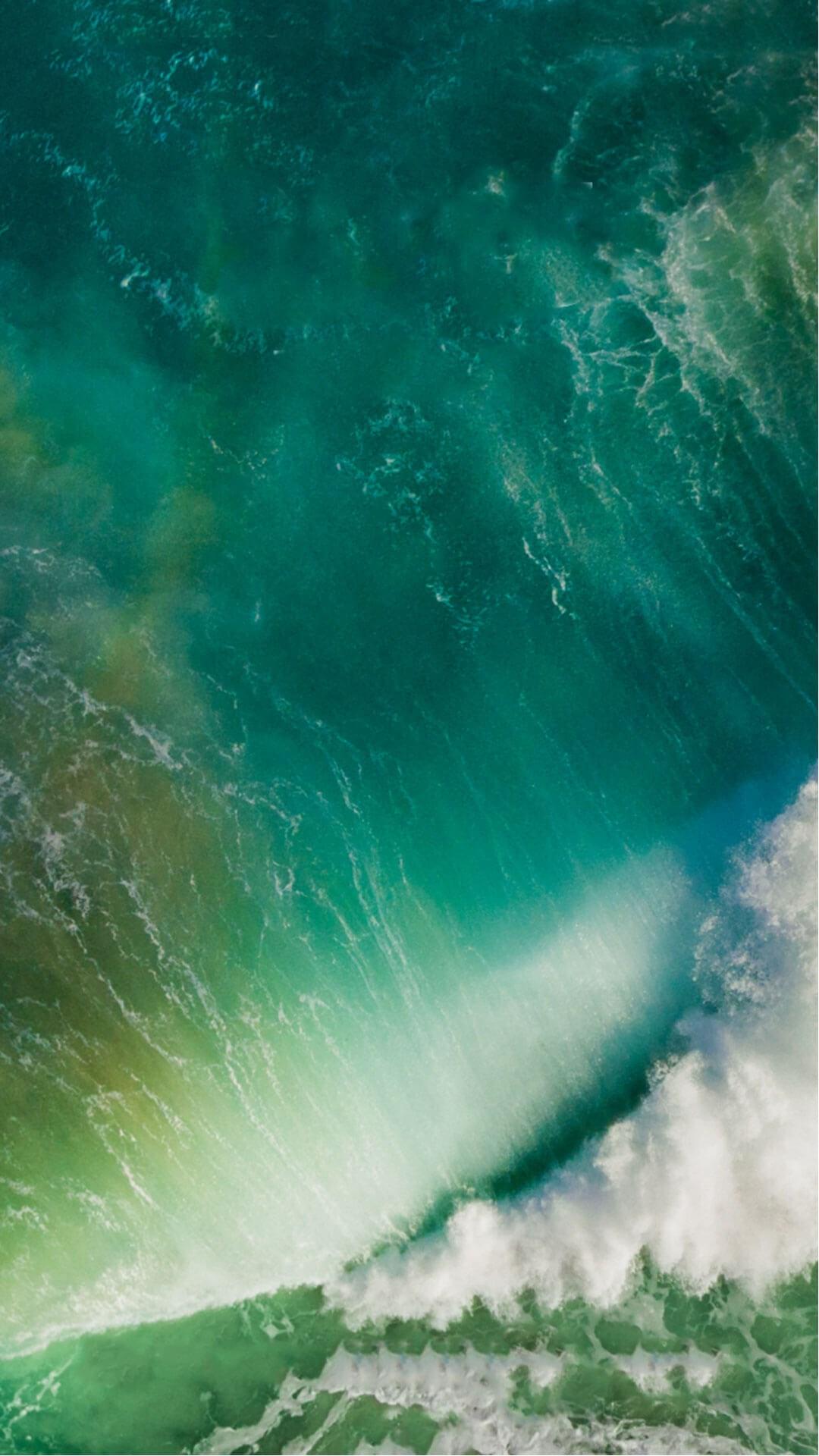 苹果IOS10官方内置壁纸 海水 绿色 苹果手机高清壁纸 1080x1920 爱思助手