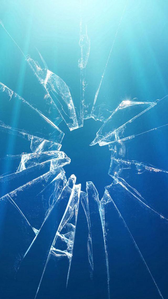 碎 玻璃 蓝色 裂