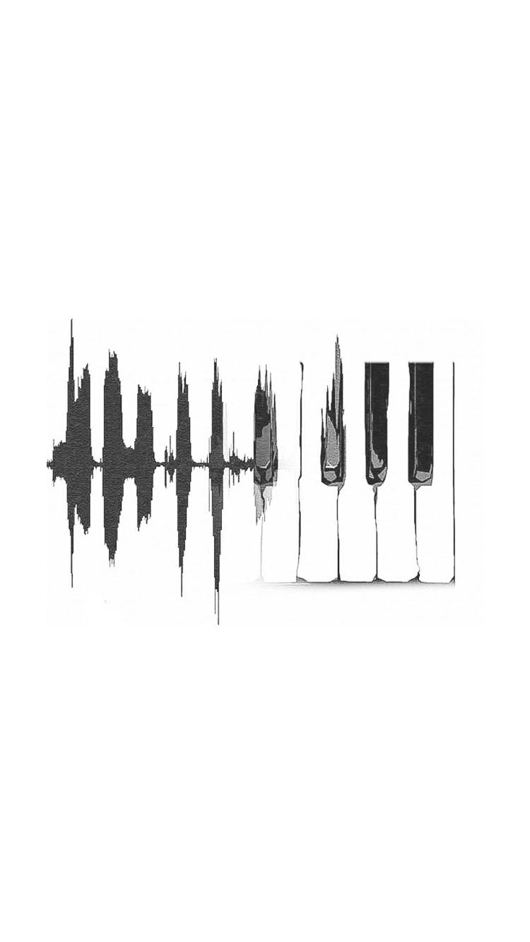 手绘 创意 钢琴 简约 黑白