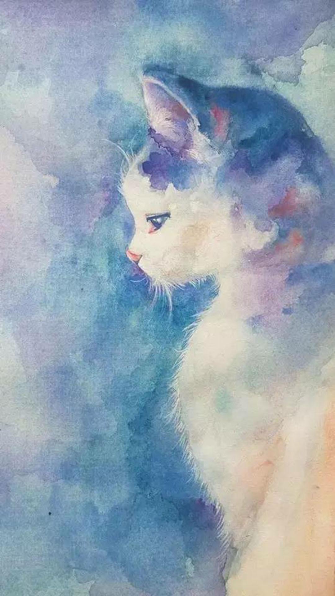 手绘 渲染猫咪 苹果手机高清壁纸 1080x1920_爱思助手