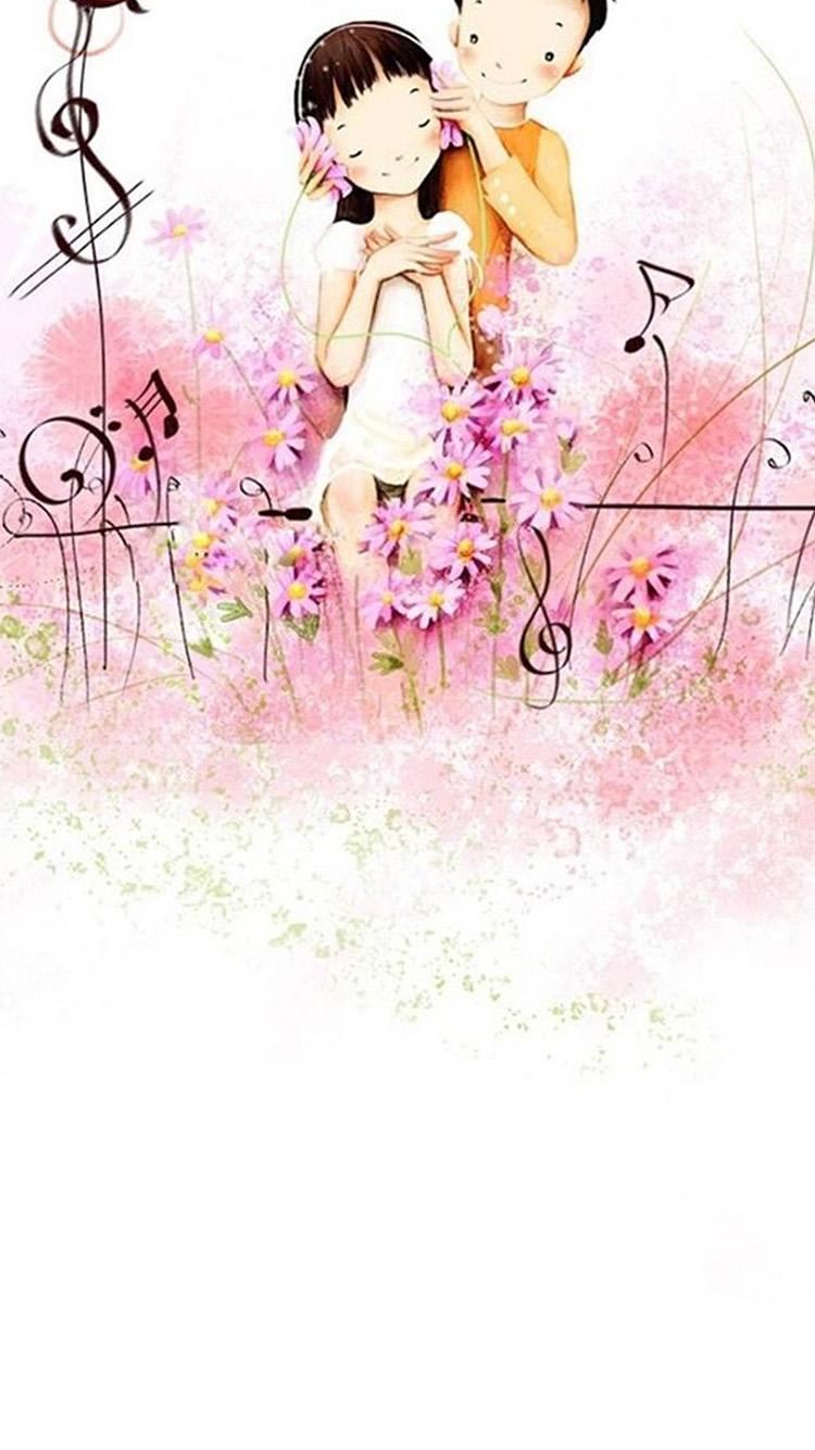 爱情 男女 粉色 花朵