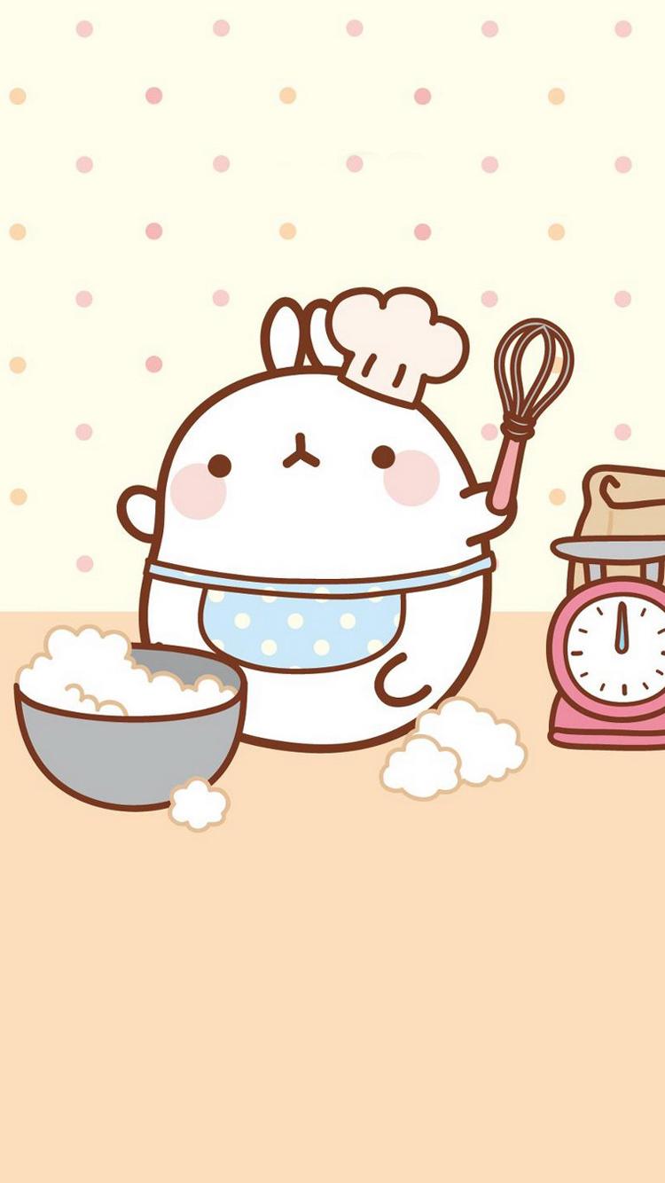 动漫 卡通 做料理的兔子 苹果手机高清壁纸 750x1334