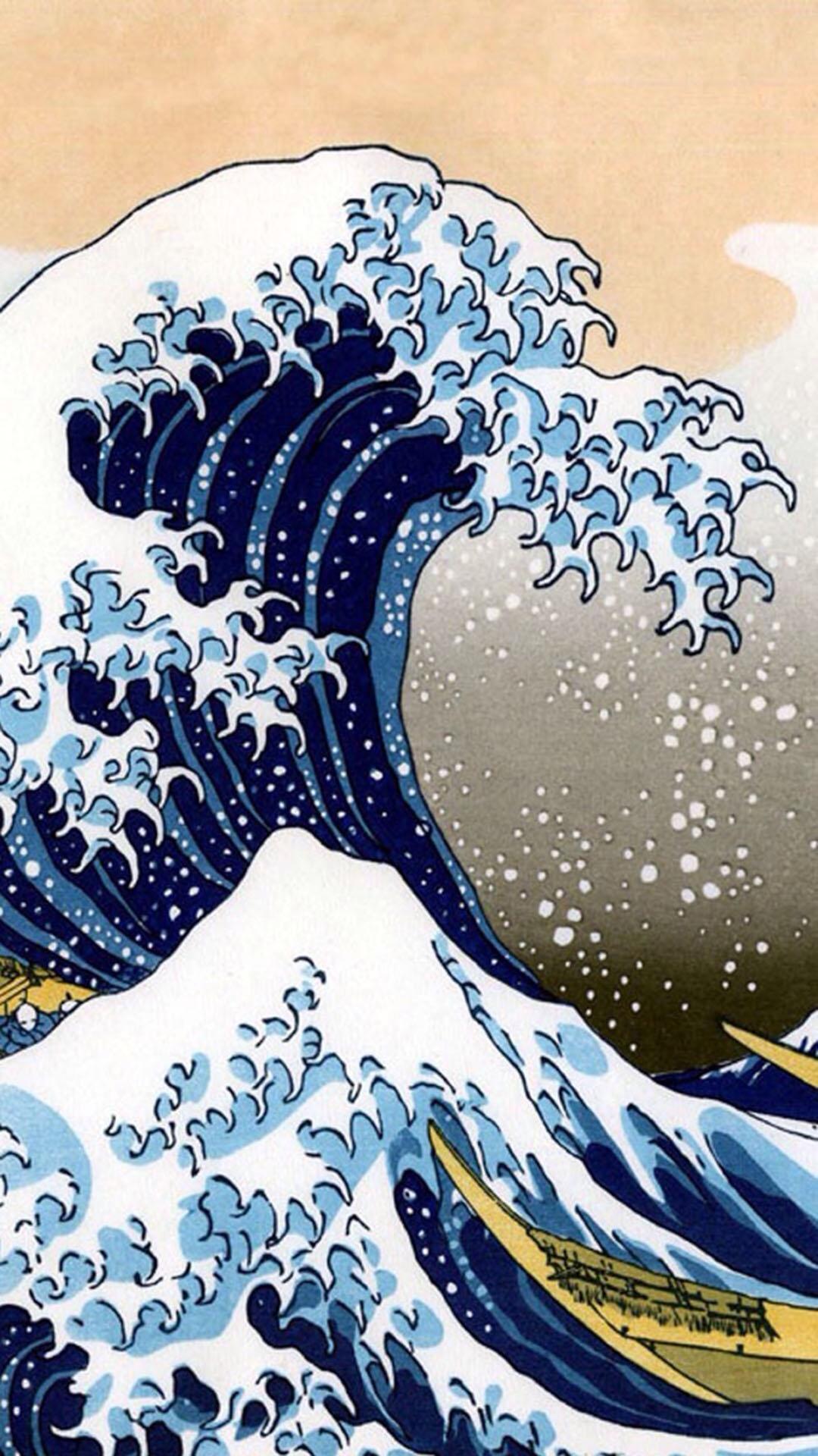 手绘 海浪