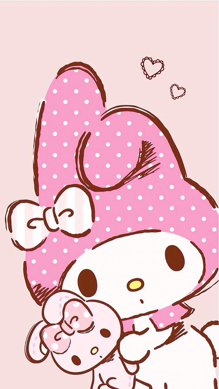 hello kitty 凯蒂猫 熊 卡通 粉色 苹果手机高清壁纸