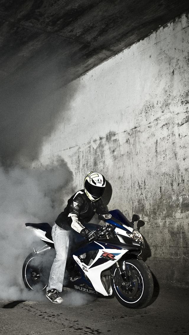 摩托车 车手 赛车 黑白