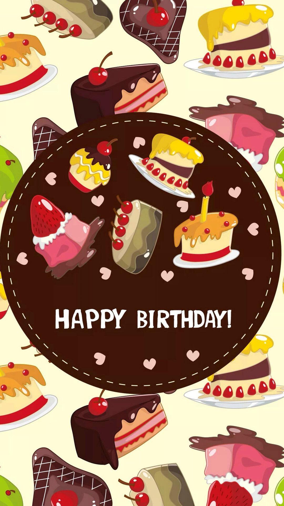 蛋糕 手绘 生日快乐 甜品 糕点 苹果手机高清壁纸 x