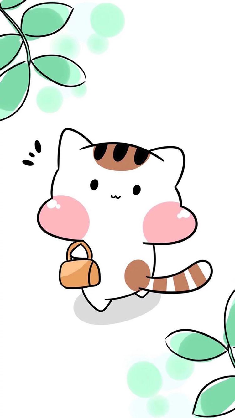小清新卡通浣熊壁纸