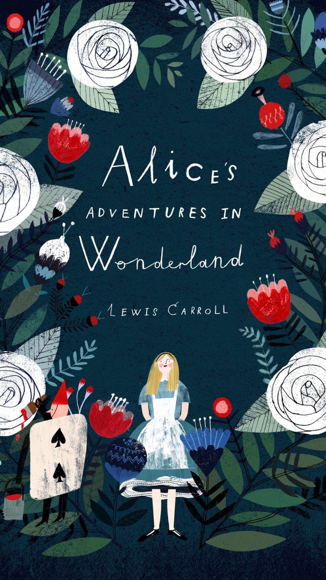 爱丽丝梦游仙境 影视 插画 手绘 丛林 树林 鲜花