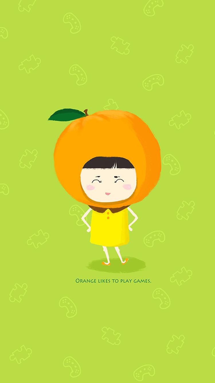 橘子头 卡通 绿色 卡通