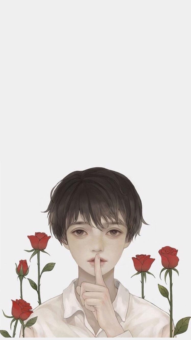 手绘 情侣 爱情 简笔画 苹果手机高清壁纸 750x1334