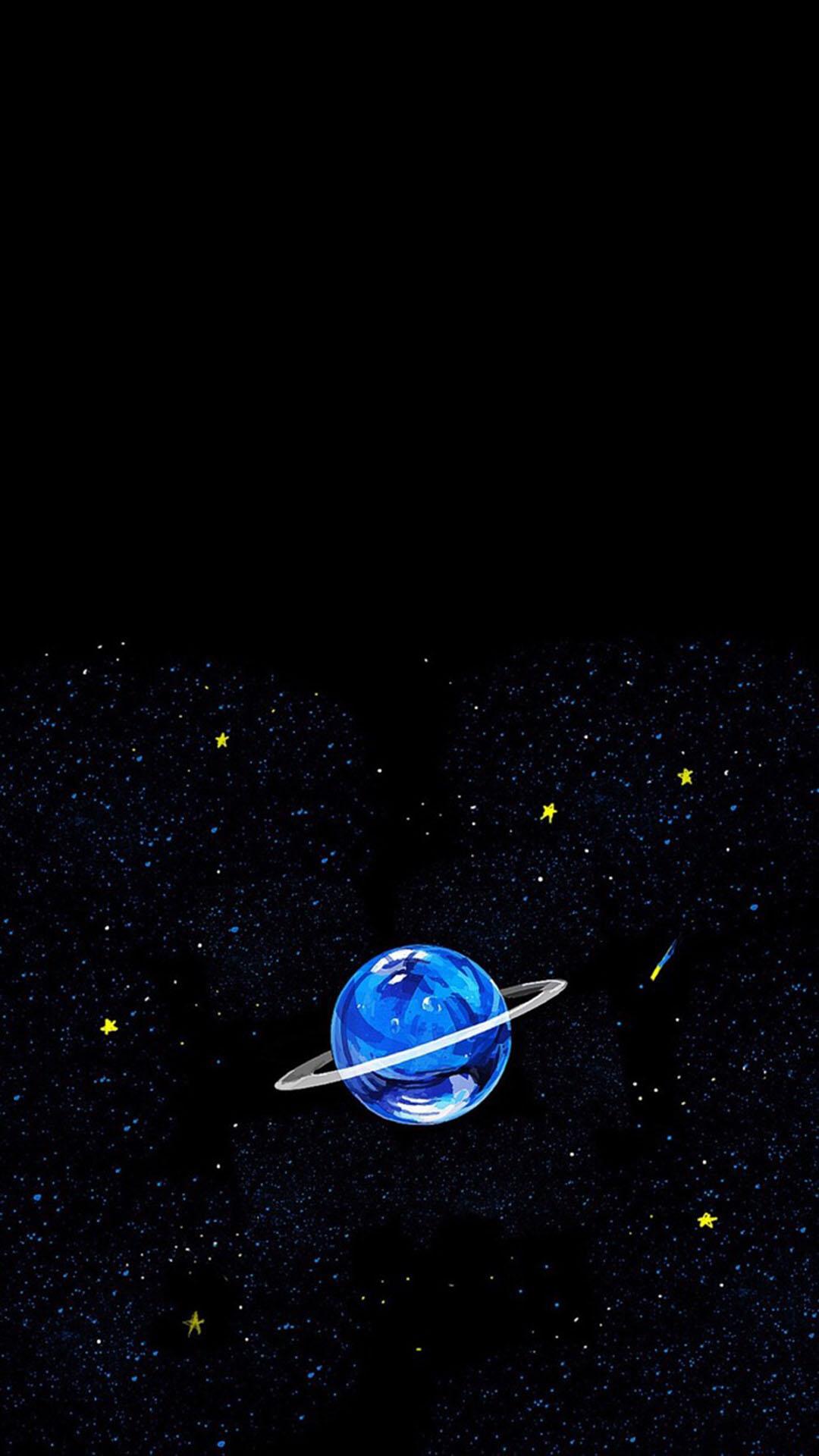星空 手绘小行星 苹果手机高清壁纸 1080x1920_爱思
