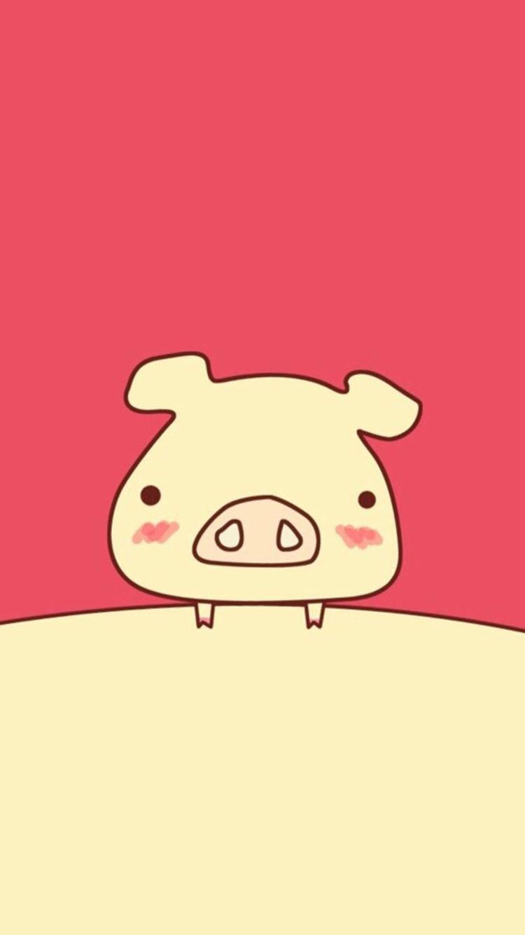可爱手绘小猪