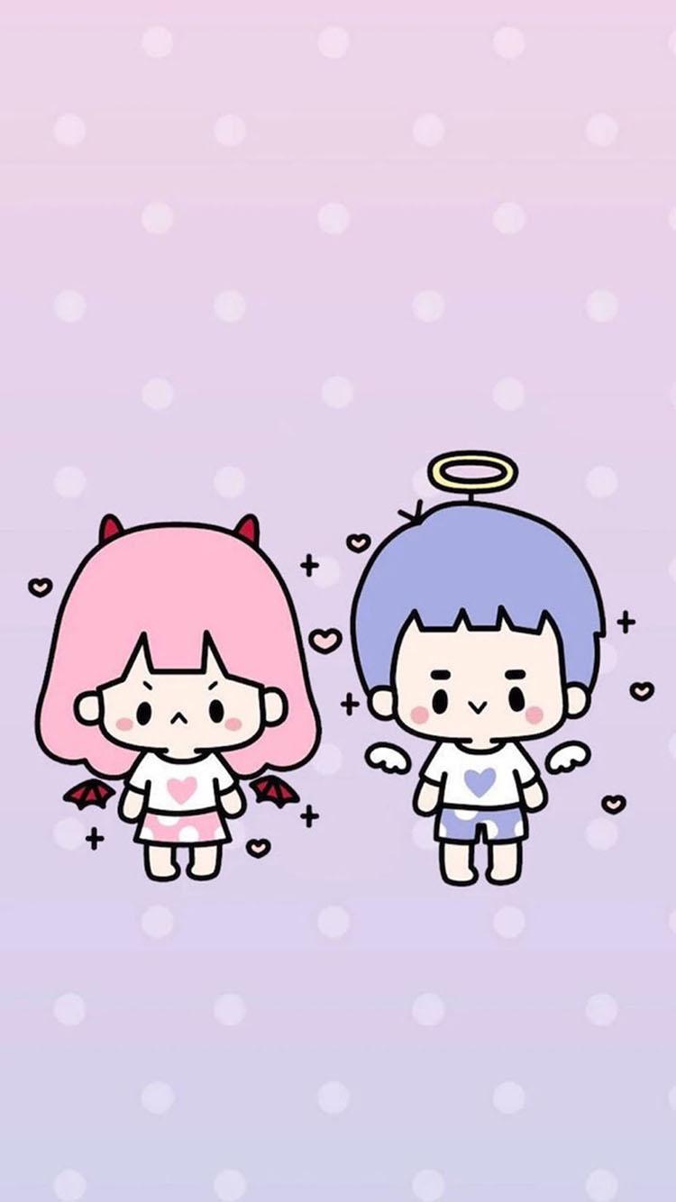 q版卡通情侣 天使与魔鬼