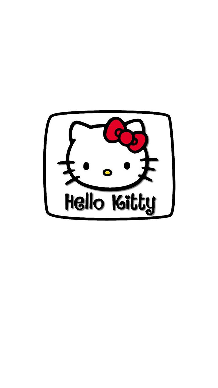 hellokitty凯蒂猫黑白简笔画