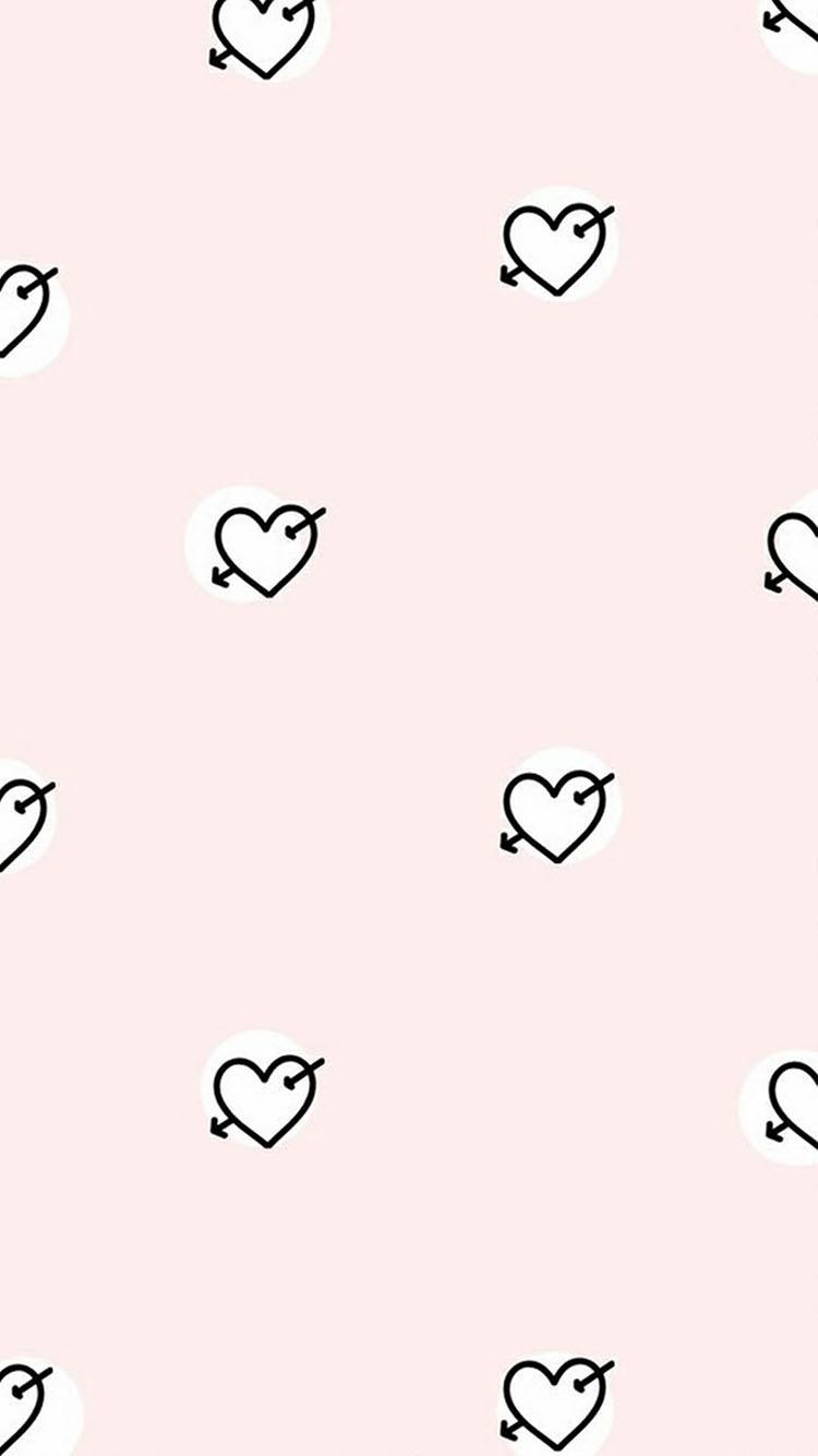 韩系 小可爱 卡通 平铺壁纸 爱心