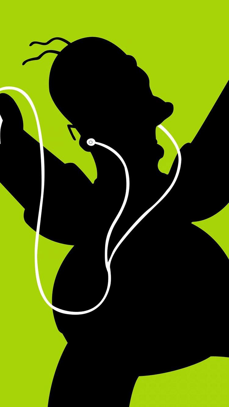 薄荷绿背景 卡通熊猫 苹果手机高清壁纸 750x1334