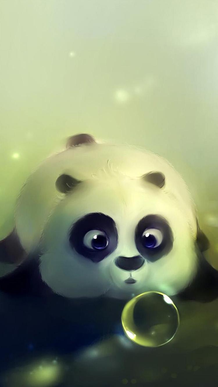 熊猫 气泡 水泡 可爱 苹果手机高清壁纸 750x1334