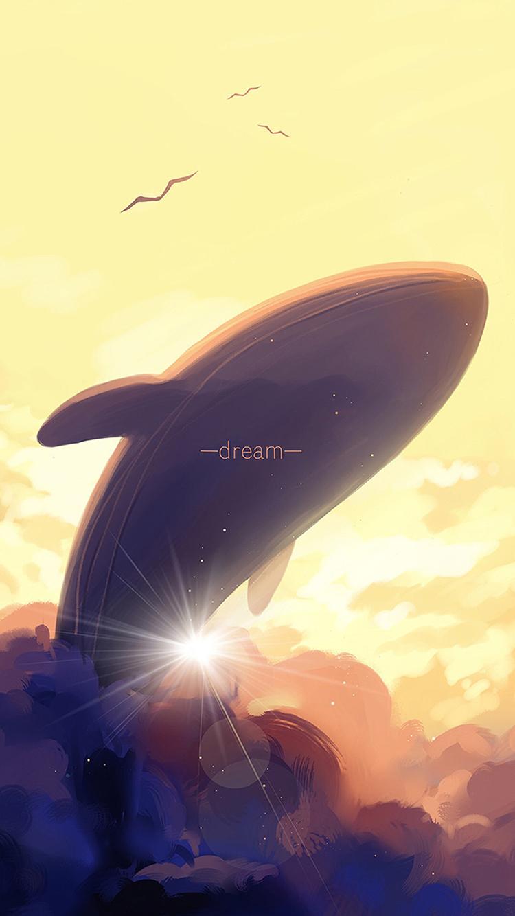 鲸 动漫 手绘 梦想 云端