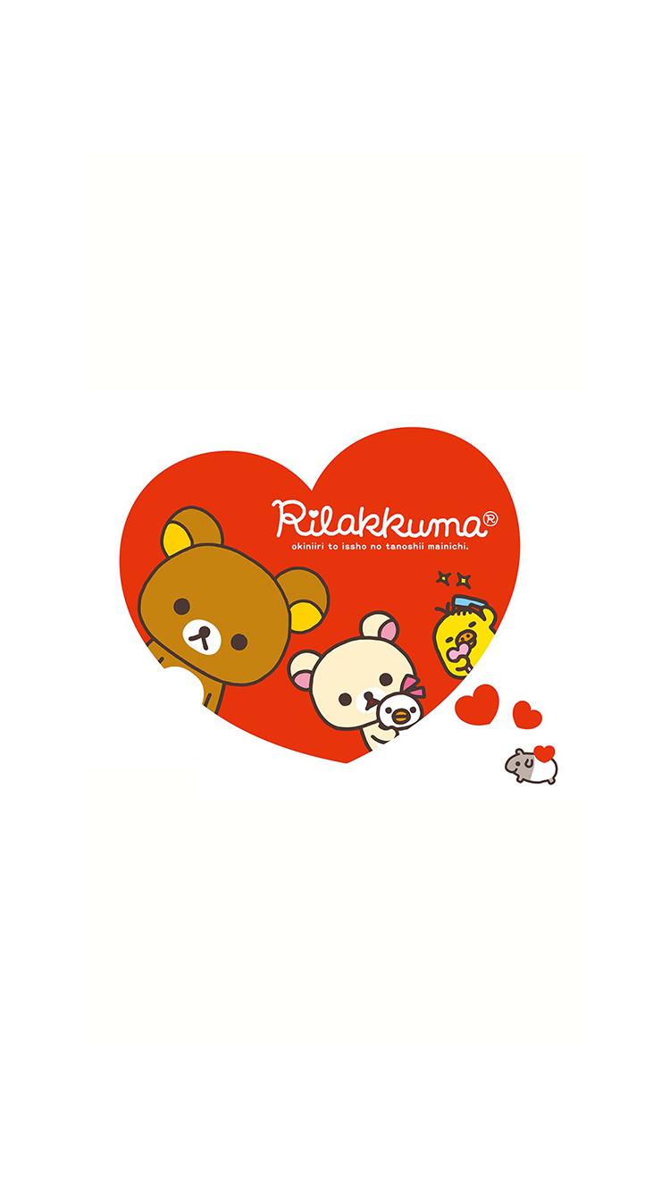 轻松熊 卡通 手绘 爱心 爱情